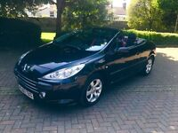 Peugeot 307 1.6 Allure Convertible in Black 2007