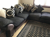 Left Hand Facing 3 Piece Pillow Back Corner Sofa