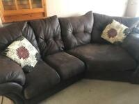 Corner sofa and swivel love seat