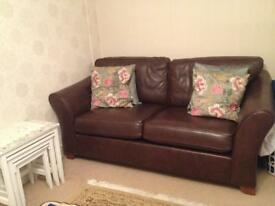 M&S 2 three seater Abbey leather Sofas