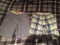HOLLISTER shorts x2 size SMALL