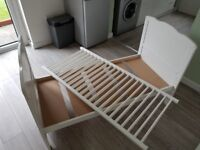 White Wooden Cot Bed Junior Size