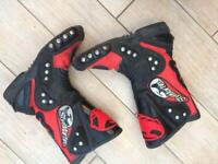 Men's motorcycle boots for sale.