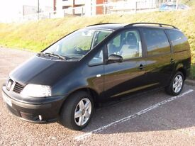 2003 SEAT ALHAMBRA 1.9TDi SE Auto - FSH+Only 79,000 Miles ! 7 Seater with Child Seats. 12 Months MOT