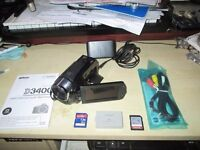 Cannon Legria HF R27 Camcorder with SD cards + spare battery