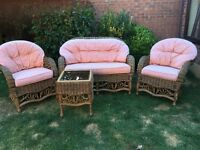 3 piece conservatory suite and table