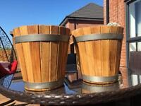 Solid wood flowers pots