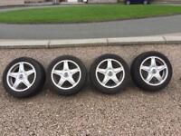 Mini Cooper alloys. With winter tyres