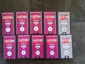 x10 Boxes Nespresso Cafe Pods x100 pods