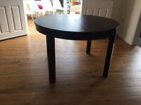 Ikea Bjursta Round Extending Dining Table