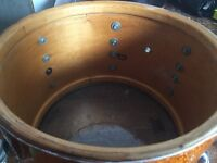 "Slingerland vintage drums c.1970 Professionally re-wrapped in Delmar gold sparkle 22"", 16"", 13"""