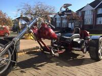 VW Trike with Harley front end