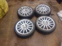 """17"""" Multi spoke alloys with tyres 4x114"""