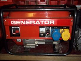 2.4KW 4 STROKE PETROL GENERATOR,WITH LOW OIL AUTOMATIC SHUTDOWN ALMOST NEW DONE NOTHING,EXCELLENT