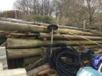 Telegraph Poles - varying lengths