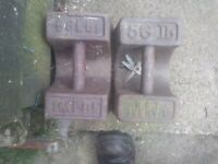 56lb weights for sale  Troon, South Ayrshire
