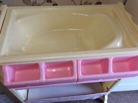 Baby changing unit - pink