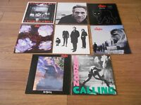 Small collection of Stranglers, Cure, Clash, vinyl LP Records