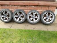17 inch genuine Audi vw alloy wheels pcd 5x112