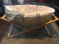 Mothercare Moses basket with mattress & stand