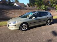 Peugeot 407 diesel estate 06 Reg panoramic roof 1 year mot