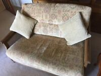 Ercol 2 seater sofa and armchair - suit lounge or conservatory - good condition