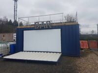 Mobile bar roof terrace coffee catering festivals converted shipping container