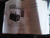 amercian dj led messenger light
