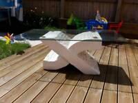 Glass garden coffee table
