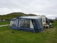 Caravan Awning. 2010 but only used 3 times. Rail length of 1001cm. Circa 20ft caravan