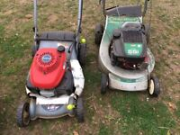 Lawn mowers for sale - Honda, Masport and Qualcast - Good working condition