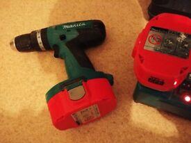 makita cordless drill 18v body + charger