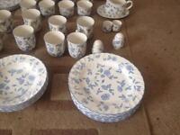 Bristol Blue British Home Stores Crockery & Table Set - NEVER USED !
