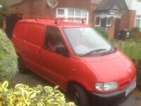 Nissan Van Used As A Camper With Tow Bar, Rhino Roof Bars & Low Mileage