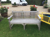 Solid Teak Park Bench - Exclusive Clearance Offer