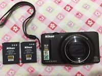 Nikon Coolpix S9200 Camera with spare battery
