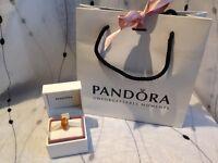 Genuine Pandora Murano Glass Charm Orange