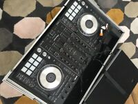 Pioneer DDJ-SX2 DJ Controller with Magma DJ workstation hard case