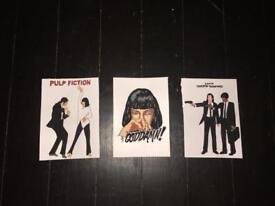 Unique personalised artwork prints original movies posters watercolour paints