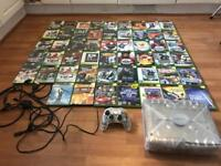 Xbox crystal Console & 52 games