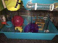 2 hamster cages + Toys + Sand + and 5kg bag of sawdust