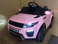 KIDS RIDE IN RANGE ROVER EVOQUE CAR With REMOTE CONTROL IN PINK, CHEAPEST IN LONDON