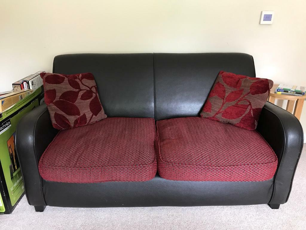 One Double Seater Sofa Matching Bed Available