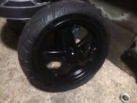 Piaggio zip rear and front pair of rims and tyres