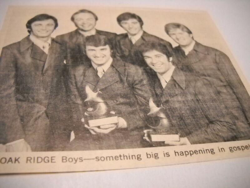 OAK RIDGE BOYS something big in Gospel music Original 1970 music biz image/text