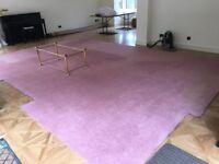 LARGE CARPET Super 50oz Twist. Heavy duty. Great condition virtually new. Dusky pink. 3.7m x 5.5m.