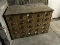 Storage drawers unit
