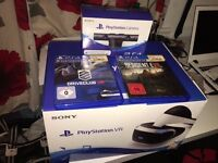 PSVR (Playstation VR) w/ PS4 Camera and 2 VR GAMES **BRAND NEW** £370
