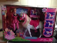 Brand New Remote Control Barbie and Horse set