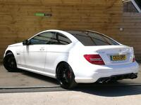 Mercedes-Benz C Class C63 2dr Auto STUNNING EXAMPLE (polar white) 2013